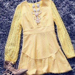 Yellow dress by Charlotte Russe